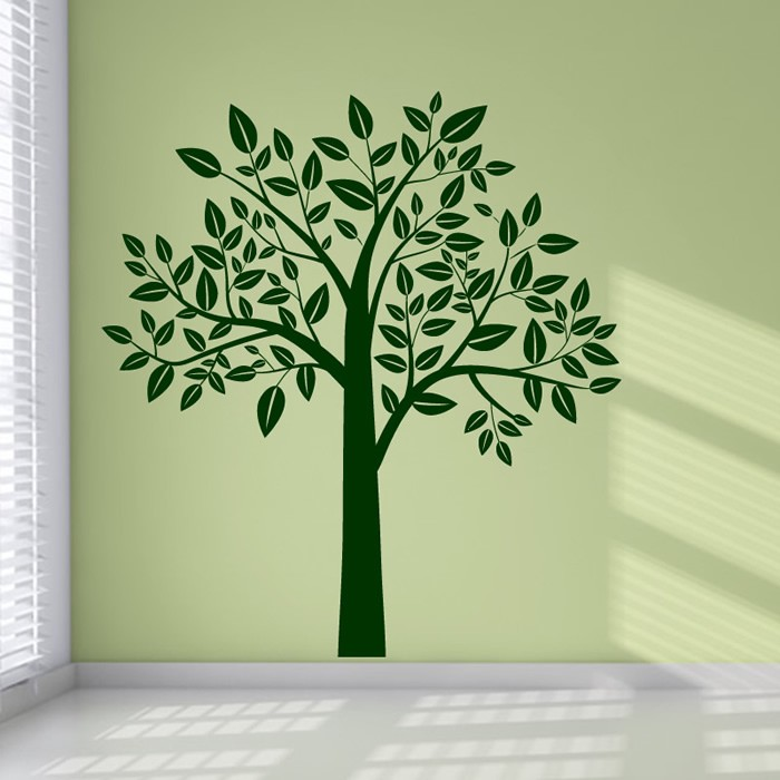 tree wall stickers leafy tree wall sticker birch tree wall decal kids nursery home JOVQWBT