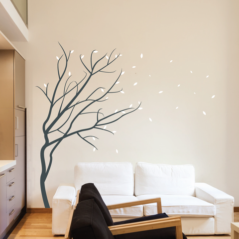 28436b42aa1c tree wall stickers winter blossom tree wall sticker by wallboss | wallboss wall  stickers IYQDTJD