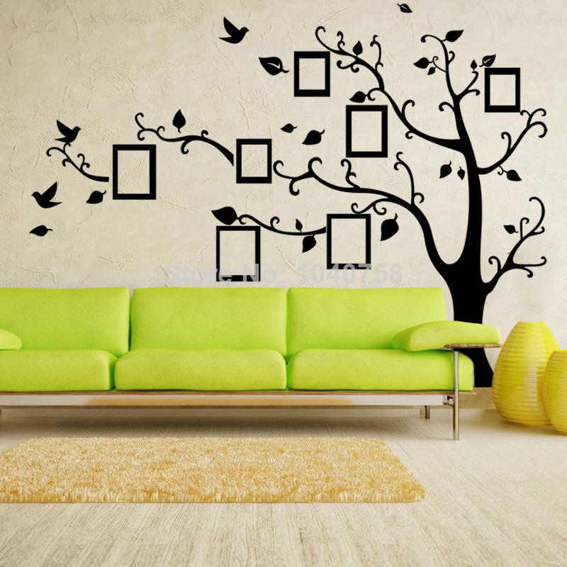tree wall stickers x large photo frame family tree wall decal tree wall sticker ZKKZYQB
