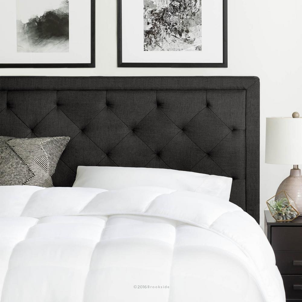 tufted headboard brookside upholstered charcoal twin with diamond tufting headboard JRQJKDE