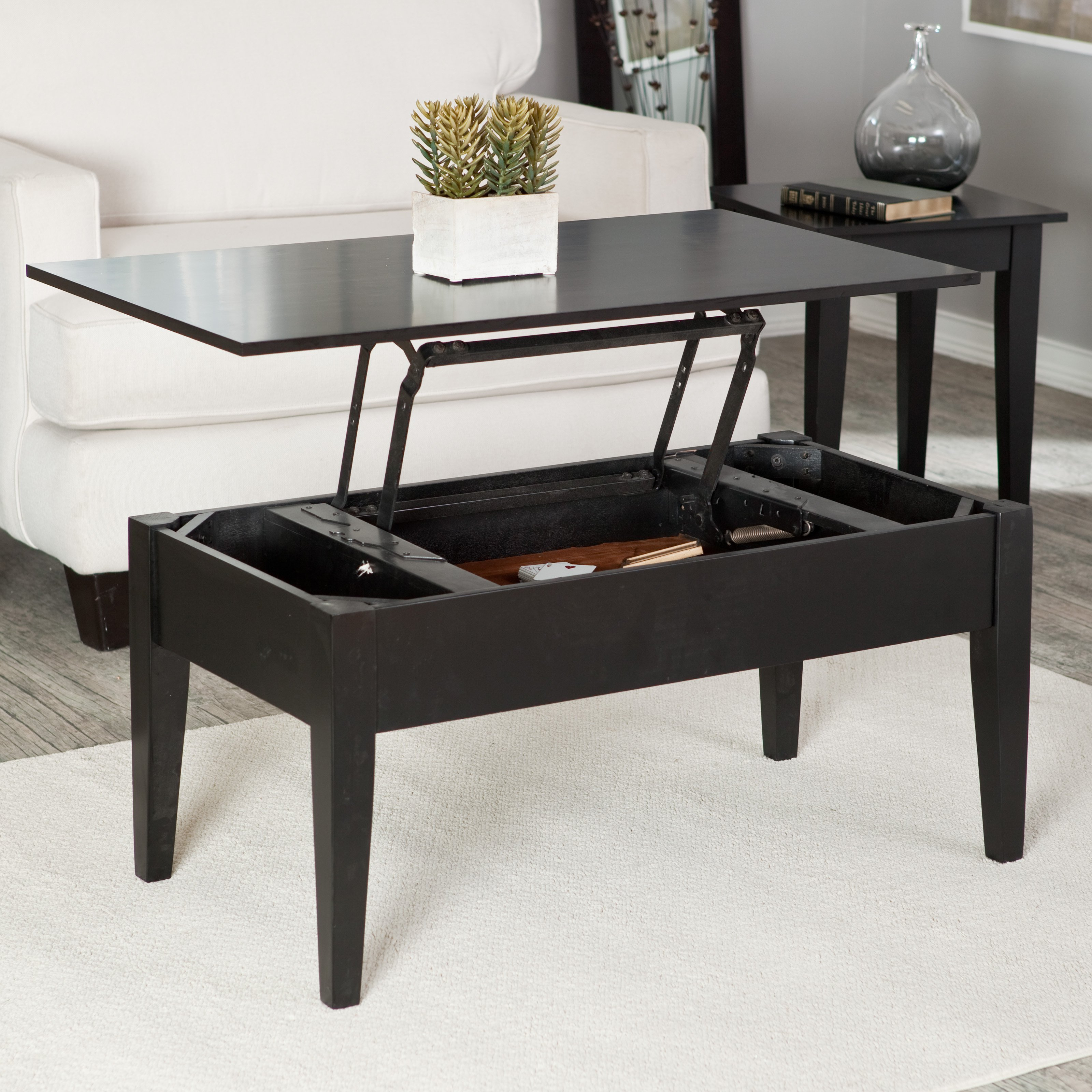 turner lift top coffee table - espresso | hayneedle QZBCLIL