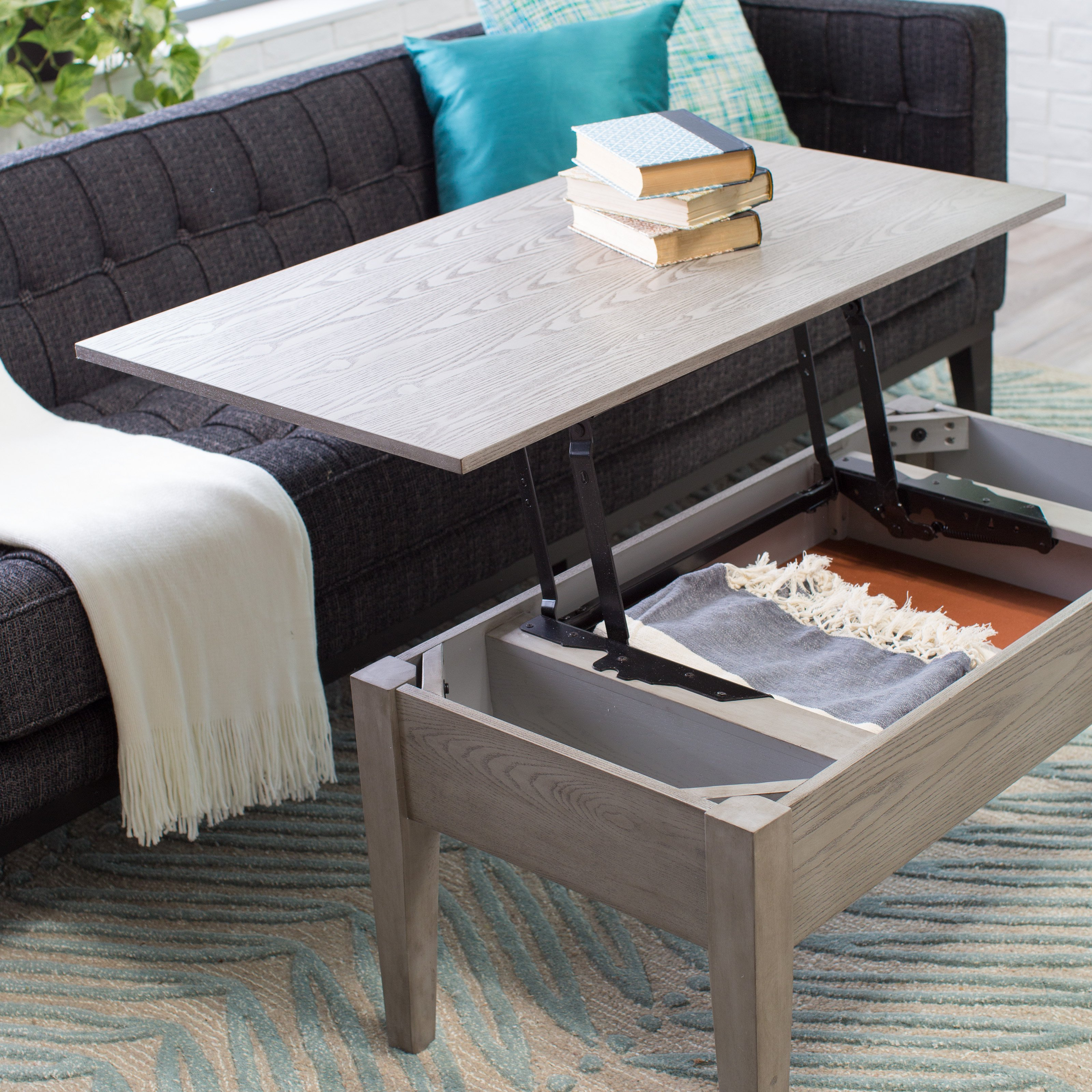 turner lift top coffee table - gray | hayneedle HBSXAGO