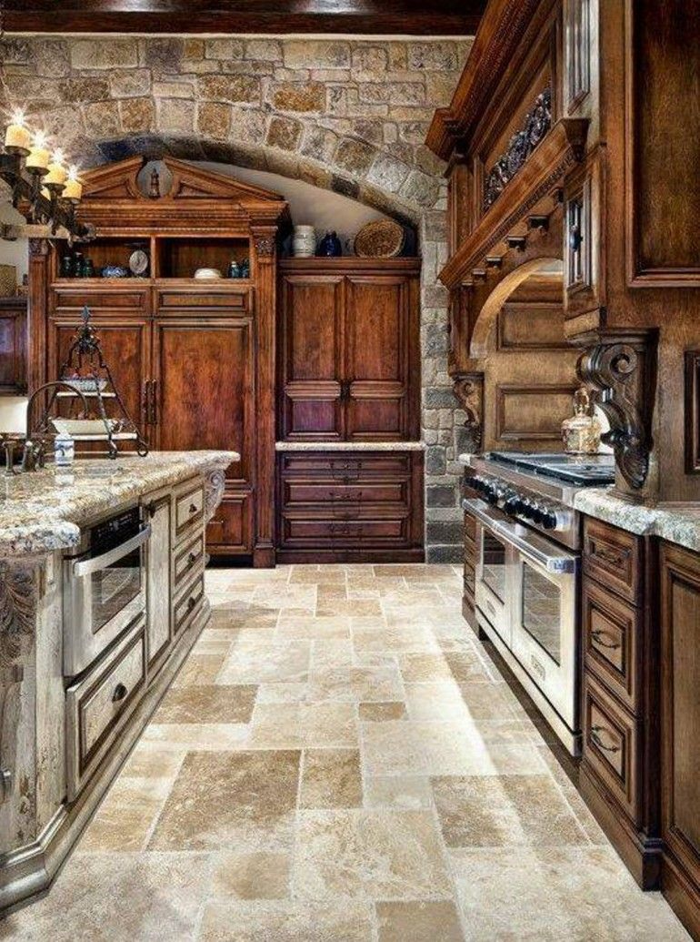 tuscan kitchen style with marble countertop | kitchen design ideas and QDWQKMF