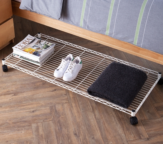 under bed storage suprima rolling underbed storage shelf - white WXANCJS