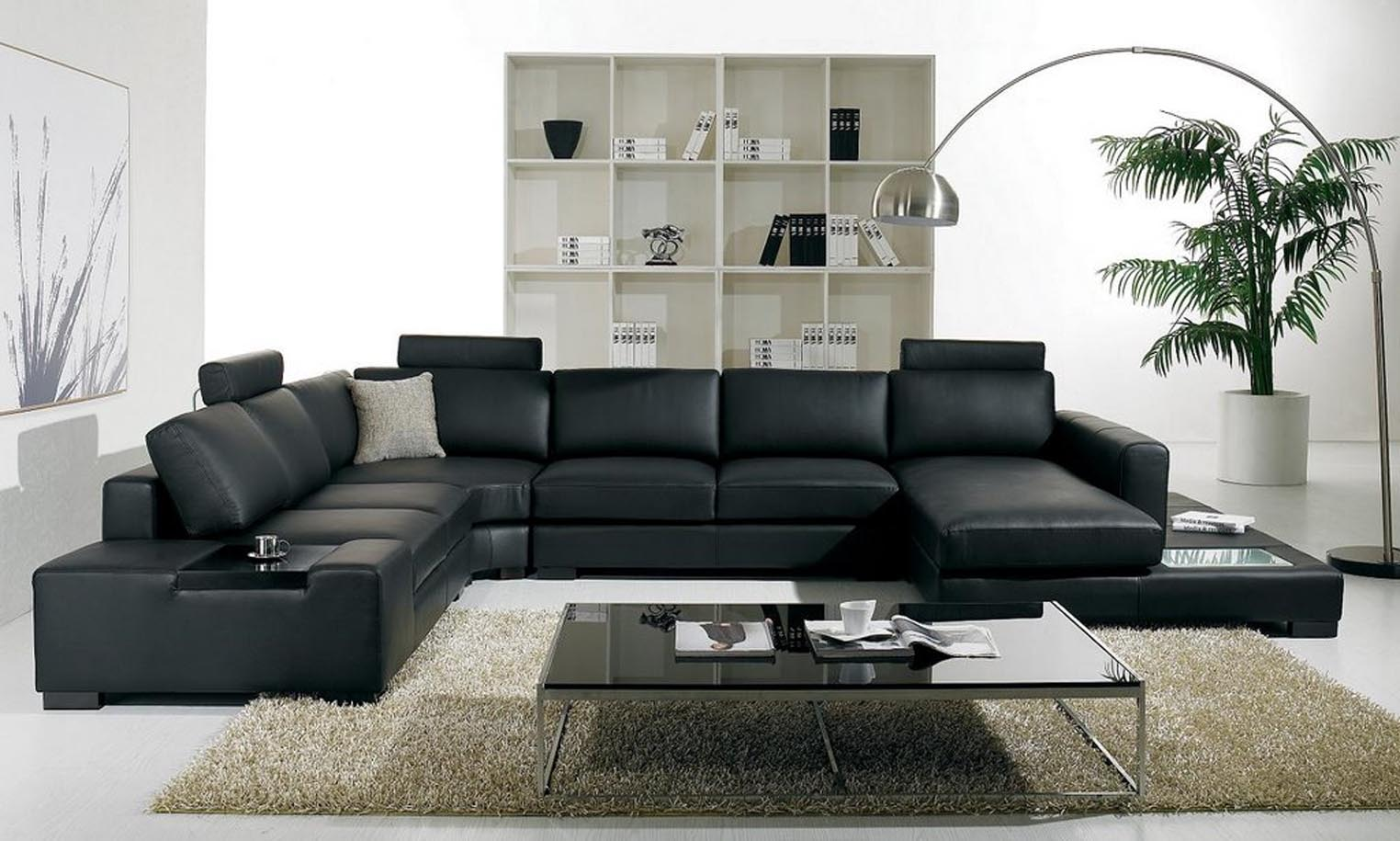 unique black leather sofa set 87 in sofa room ideas with KMVQMPE