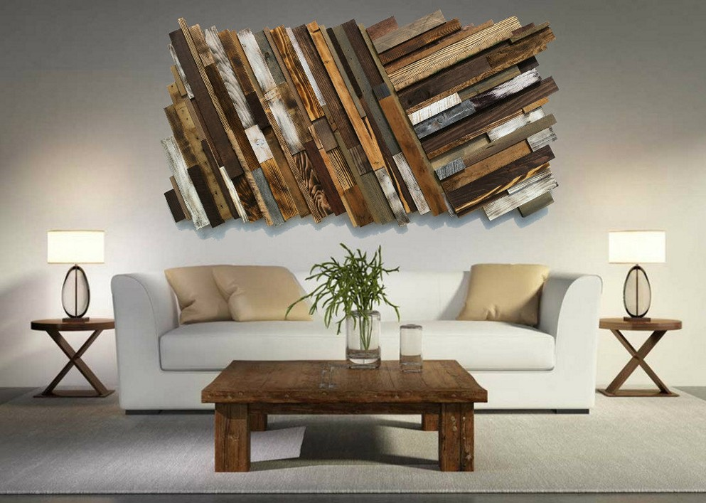 unique pallet wall art ideas and designs VGPVPDO