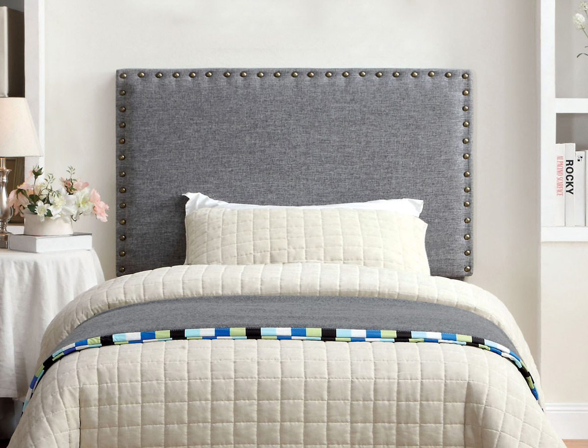 upholstered headboards grey fabric upholstered headboard - ca7051f-gy TOMXSEO