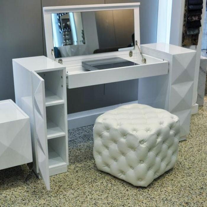 vanity desk white TVPRLKS