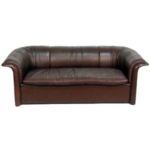 vintage leather sofa image is loading vintage-leather-sofa-dunbar-by-dennis-christiansen GFBXGDJ