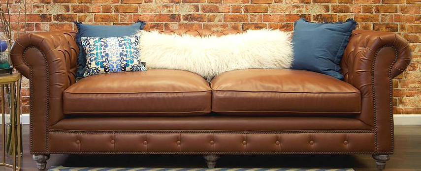 vintage leather sofa low priced brown leather chesterfield sofa ... VTOUHBL