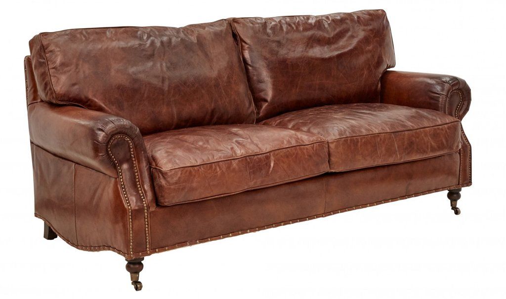 vintage leather sofa ... vintage leather kent sofa 3 seater ... QZOQBTO