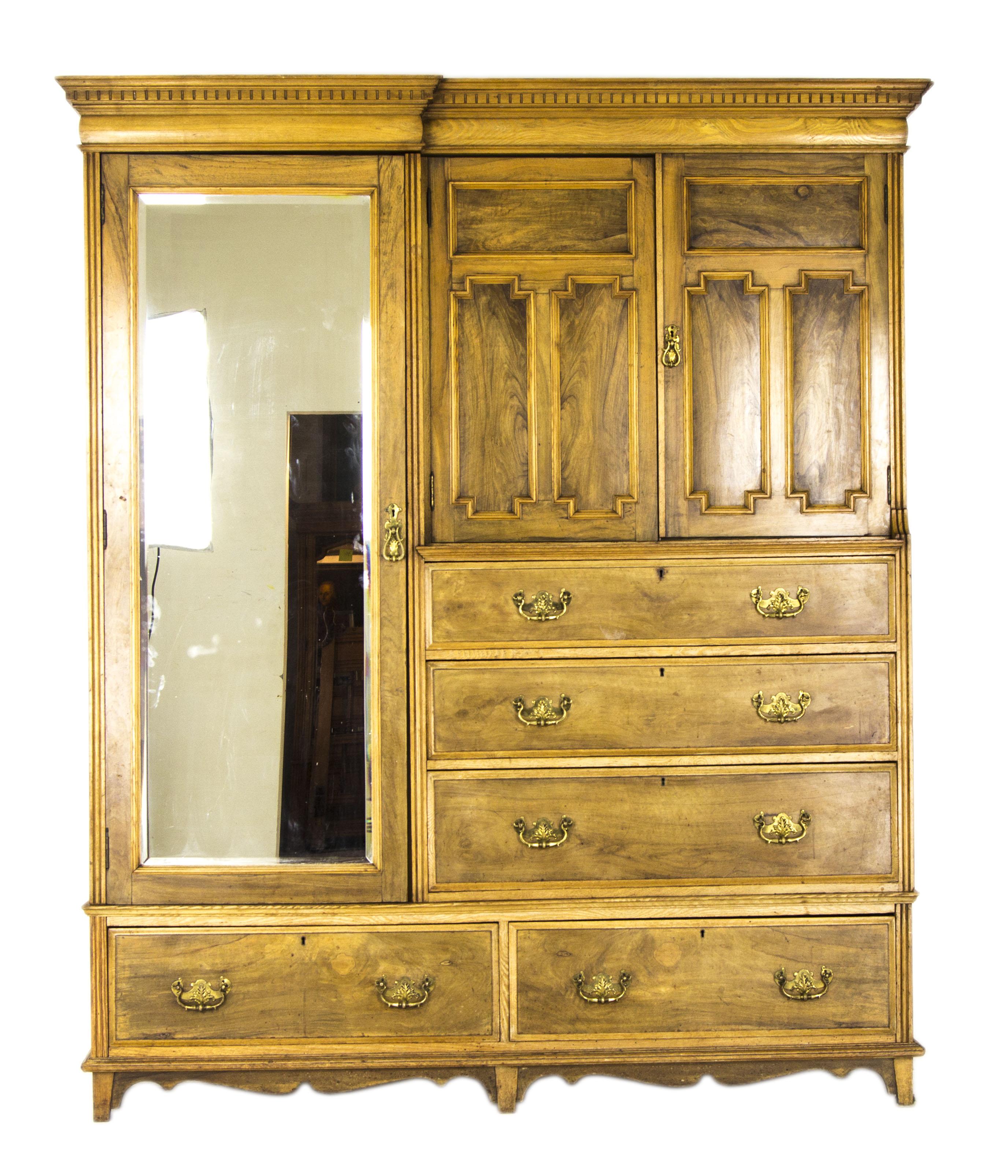 vintage wardrobe antique wardrobe JWMTCZI
