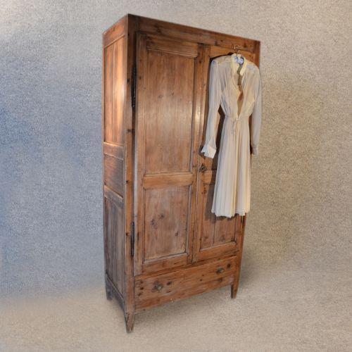 vintage wardrobe wardrobe antique pine french quality vintage cupboard double c1900 PIEWRRT
