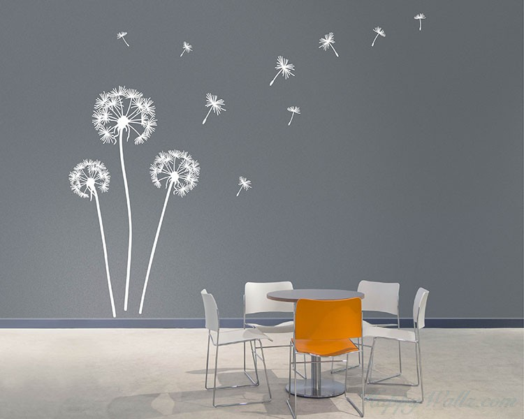 vinyl wall decals dandelion wall decal VJBQYFF