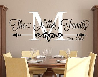vinyl wall decals family last name monogram personalized by starstruckindustries TCJWRHT