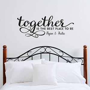 vinyl wall decals personalized family vinyl wall art - together is the best place JMCSHAW