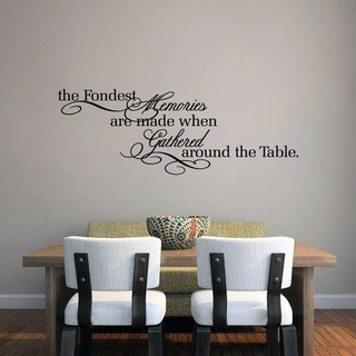 vinyl wall decals the fondest memoriesu0027 45 x 16-inch kitchen wall decal DHMXQTV