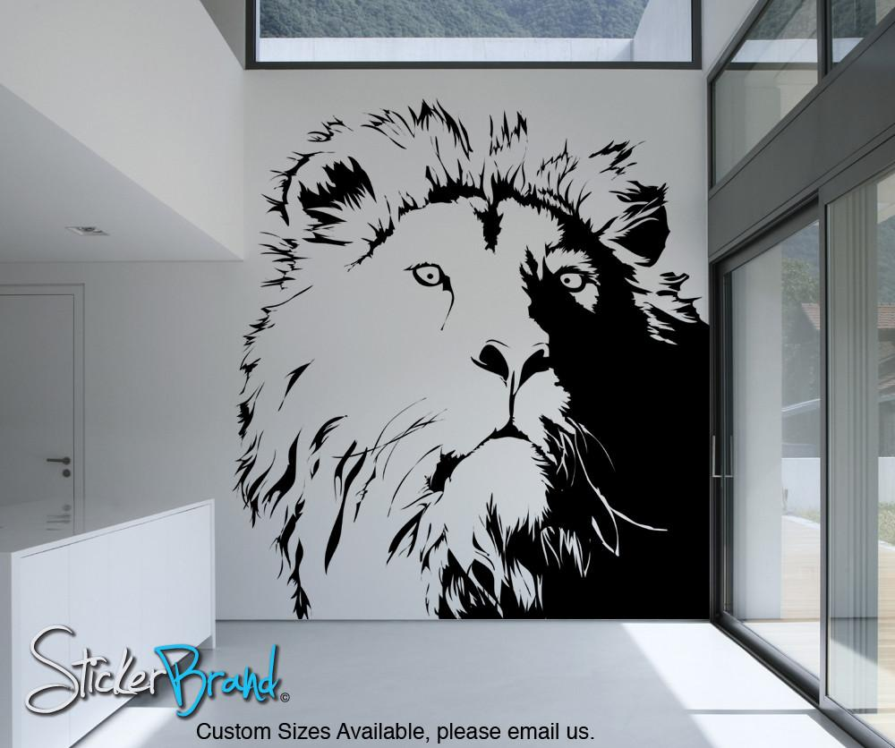 vinyl wall decals vinyl wall decal sticker lionu0027s head #ac177 IEOFGCZ