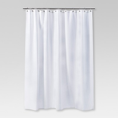 waffle weave shower curtain white - threshold™ : target XZNYQGT