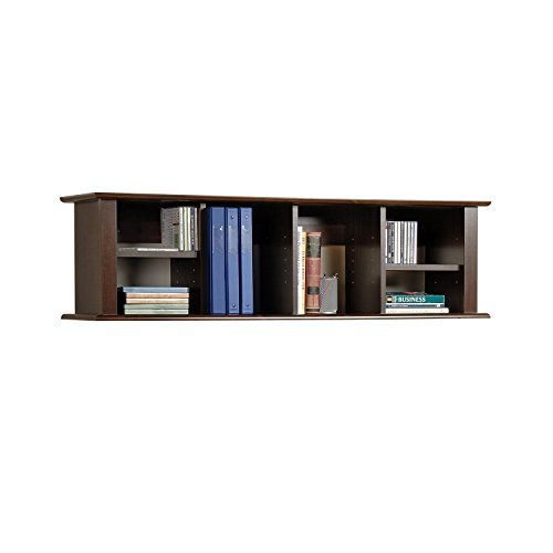 wall bookshelf prepac espresso wall mounted desk hutch BMOXGJP