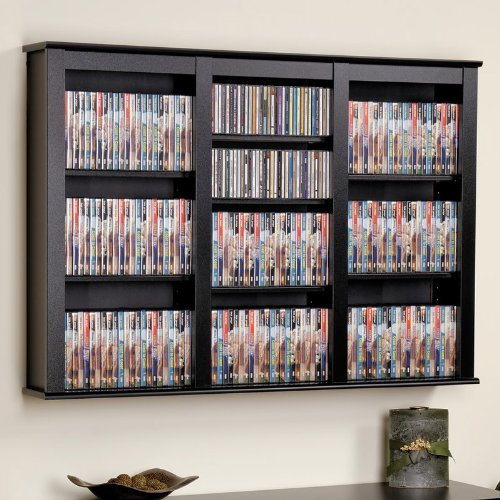 wall bookshelf prepac triple wall mounted storage cabinet, black OPESHCT
