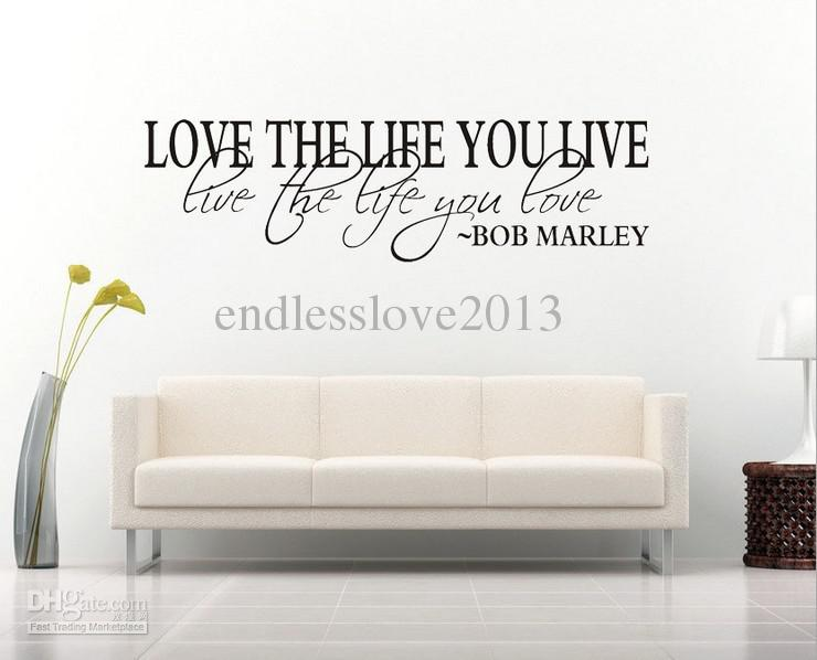 16de0f0285c3 wall decals quotes bob marley quote wall decal decor love life wall sticker  vinyl KUSNBTT