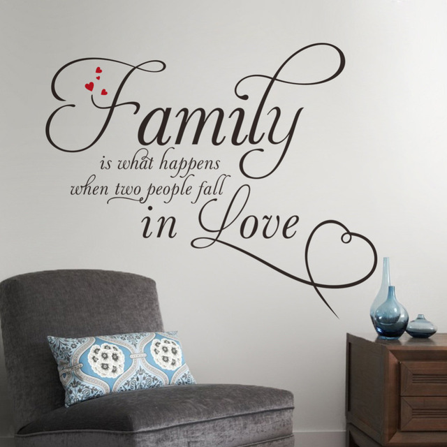 wall decals quotes family in love home decor creative quote wall decals removable vinyl RXFMPRK