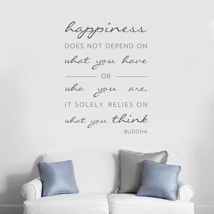 wall decals quotes happiness does not depend on wall decal quote RLOZZMN