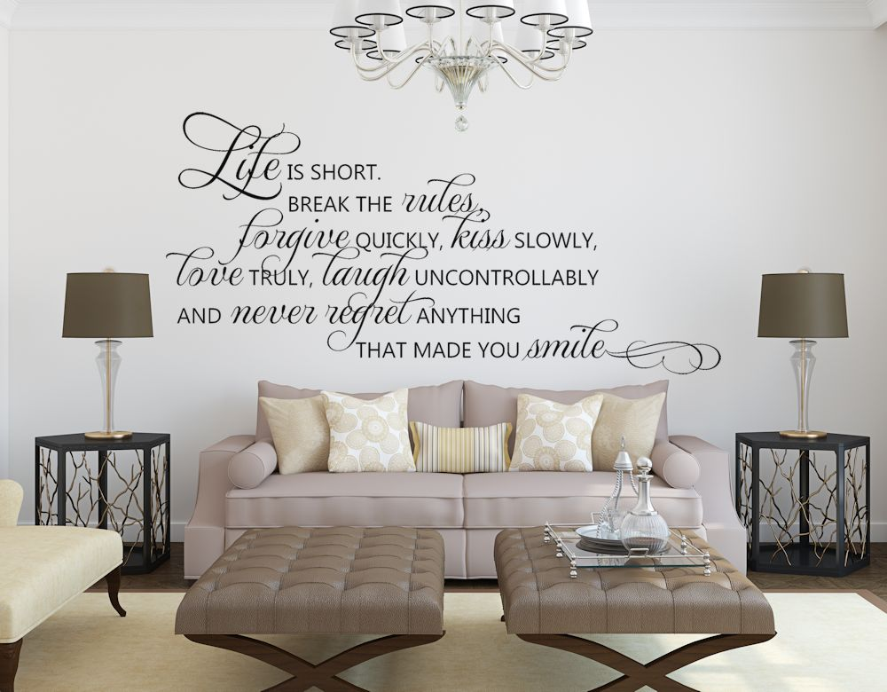 Wall Decals Quotes Inspirational Quote Decal Fnemofm