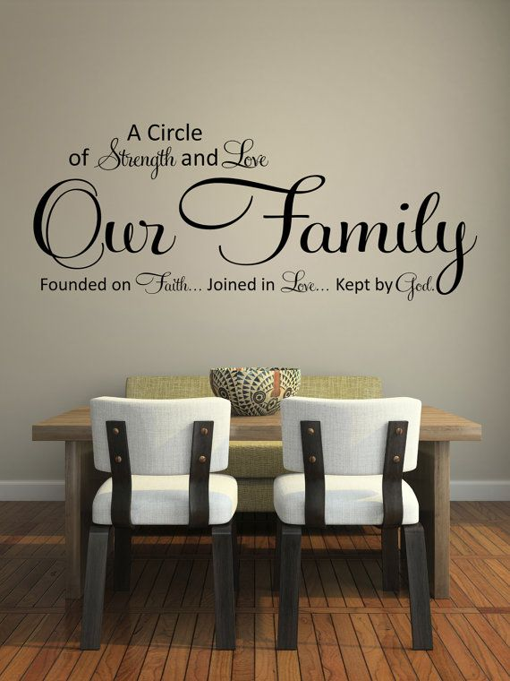 wall decals quotes wall quote decal, a circle of strength and love, wall decal, VCBKMZH
