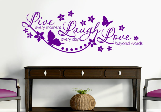 wall decals quotes wall words - AXLEYLW