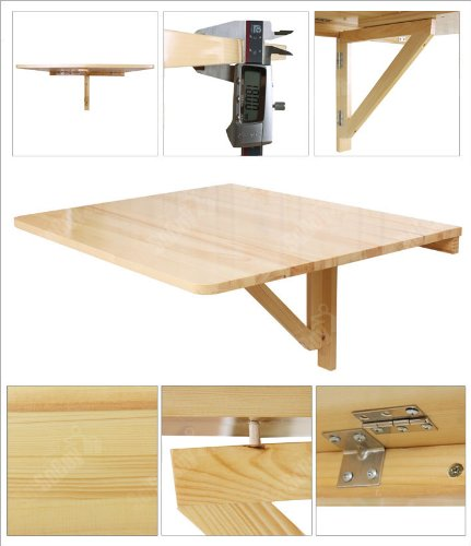 wall mounted table amazon.com - haotian wall-mounted drop-leaf table, folding dining table  desk, NZJSRSQ
