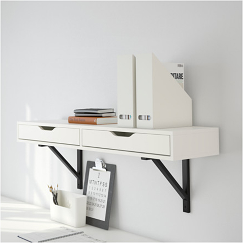 wall mounted table ekby alex shelf with drawer at ikea QYBSOUI