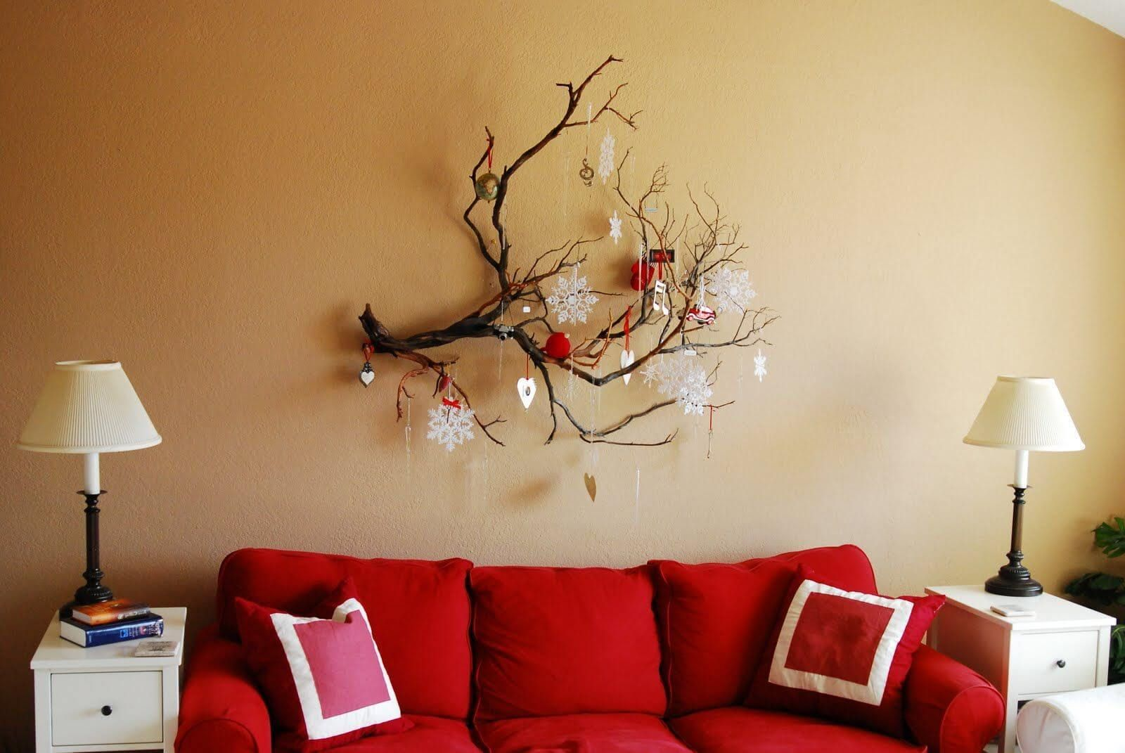 walls decoration ideas 35 festive christmas wall decor ideas that will instantly get you JOTGQTV