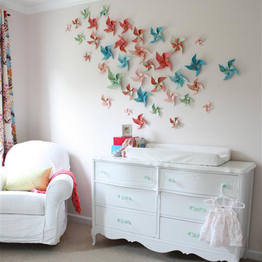walls decoration ideas budget-friendly wall decor idea: make a pinwheel feature wall, with APLAEDS