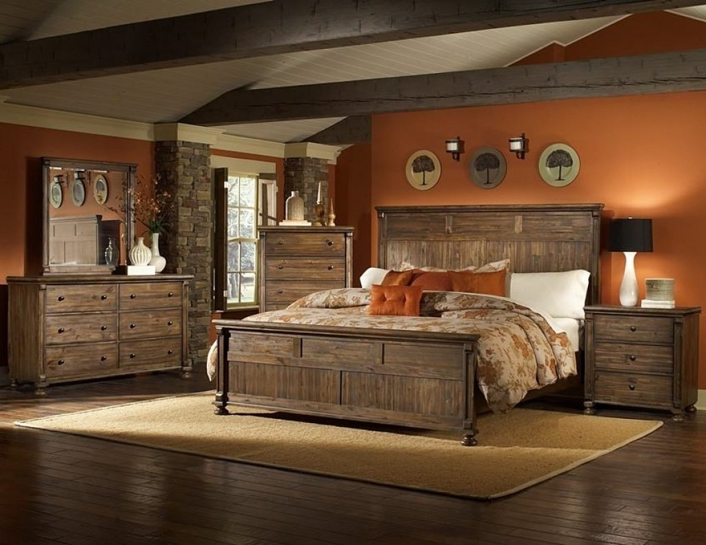 western rustic bedroom furniture sets PQXDGVU