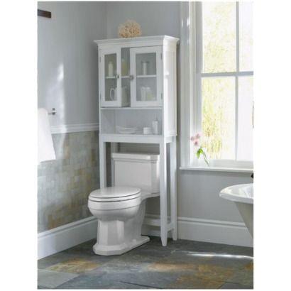white bathroom etageres DQUSCMB