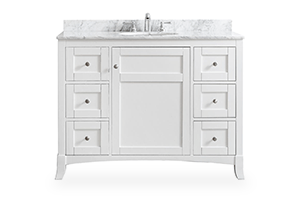 white bathroom vanity 48-inch bathroom vanities VWDEITZ