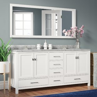 white bathroom vanity serigne 73 AHDFZLH