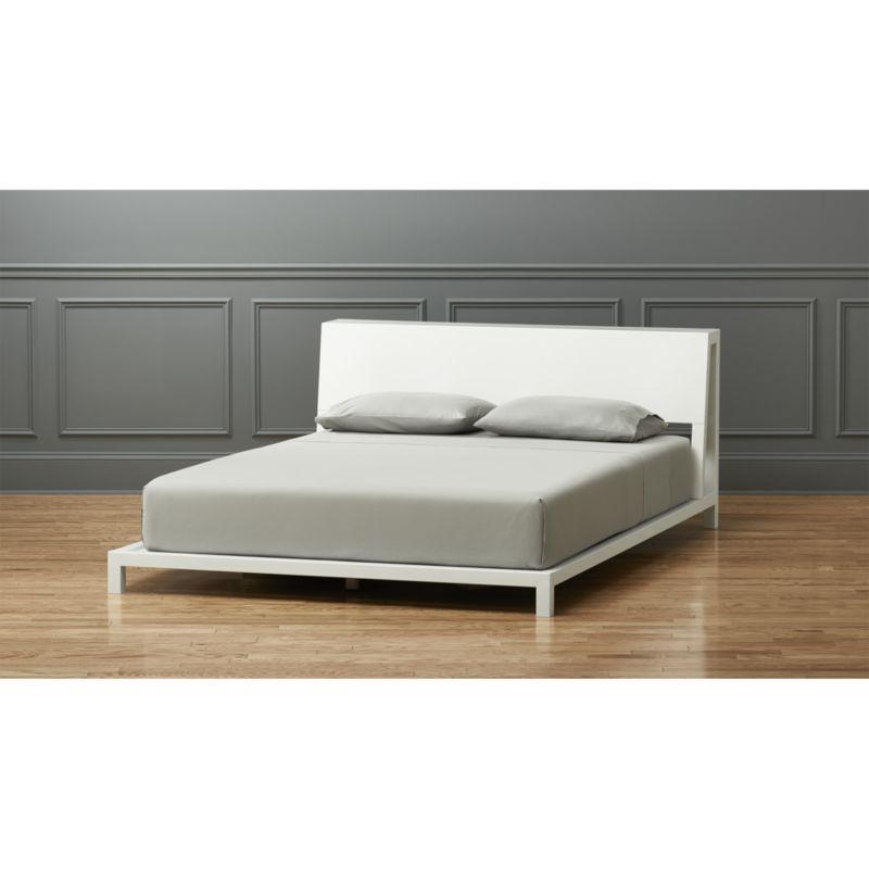 white beds alpine white bed | cb2 LNEDPJT