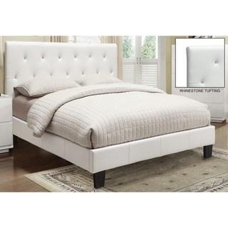 white beds clay alder home university faux leather rhinestone tufted platform bed (2 UMWJPJA