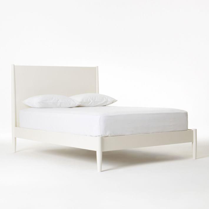white beds mid-century bed - white | west elm QKDMEKL