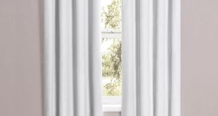 white blackout curtains eclipse cassidy blackout white polyester grommet curtain panel, 84 in. WSCLQJB