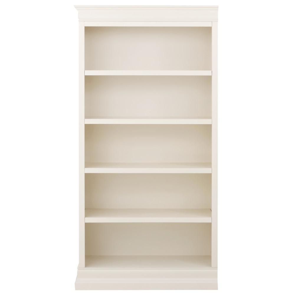 white bookcases home decorators collection louis philippe modular left polar white open PVHDZIY