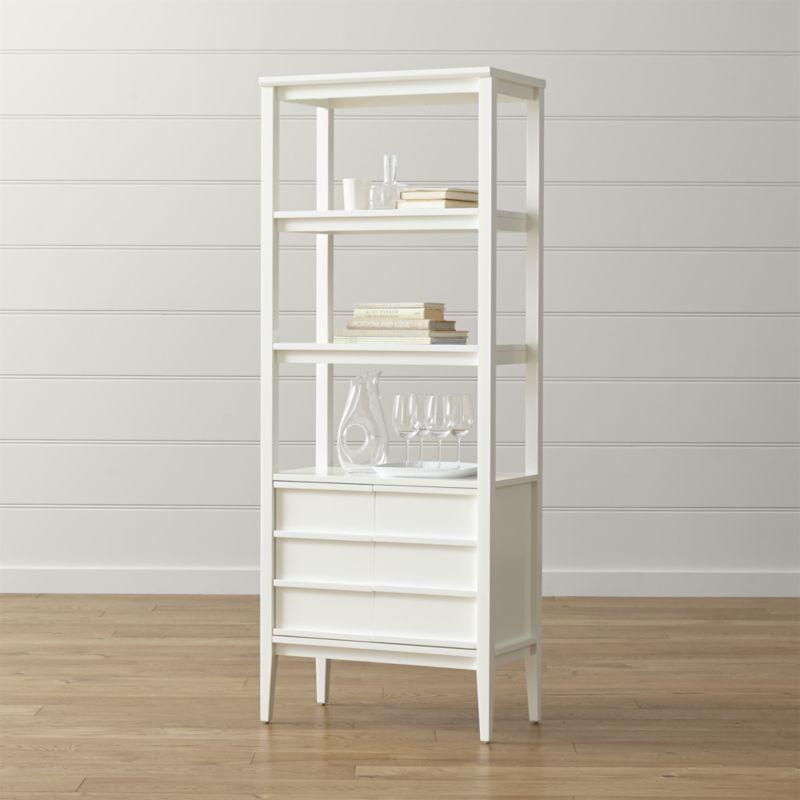White Bookcases Offer Elegant Storage Option