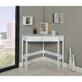 white corner desk kings brand furniture wood corner desk with drawer (white) VQCSWWU