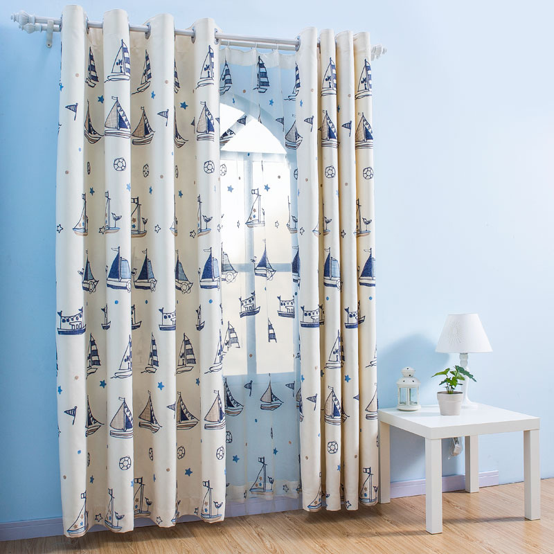 white dreamy nautical curtains for boys bedroom RRECQSR