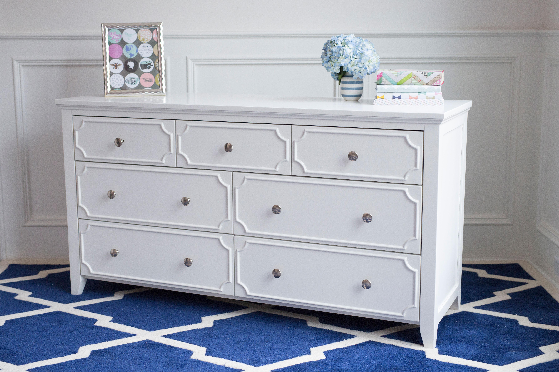 white dresser craft-3over4-drawer-dresser-white-steel-knobs-angled FBQTZNQ