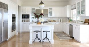 white kitchen cabinets courtesy of studio mcgee. bright, white cabinetry ... DJZDUQC