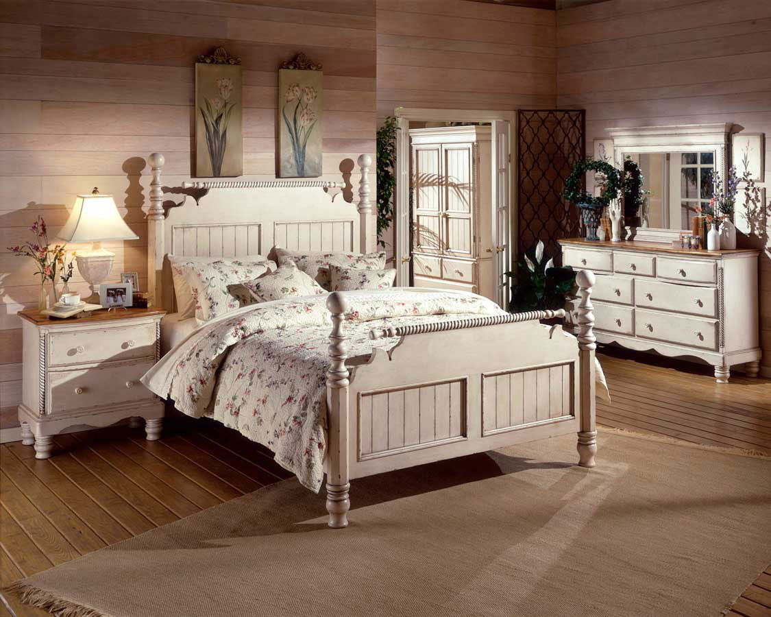 white rustic bedroom furniture CURDDJG